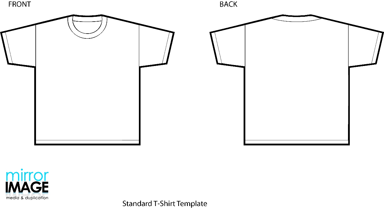 Real T Shirt Template Front And Back